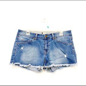 Roxy Jean Demin Distressed Short Shorts Size 29